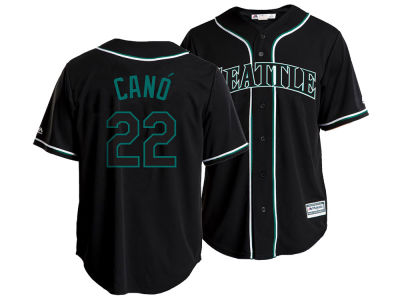 Seattle Mariners Robinson Cano MLB Men's Pitch Black Jersey