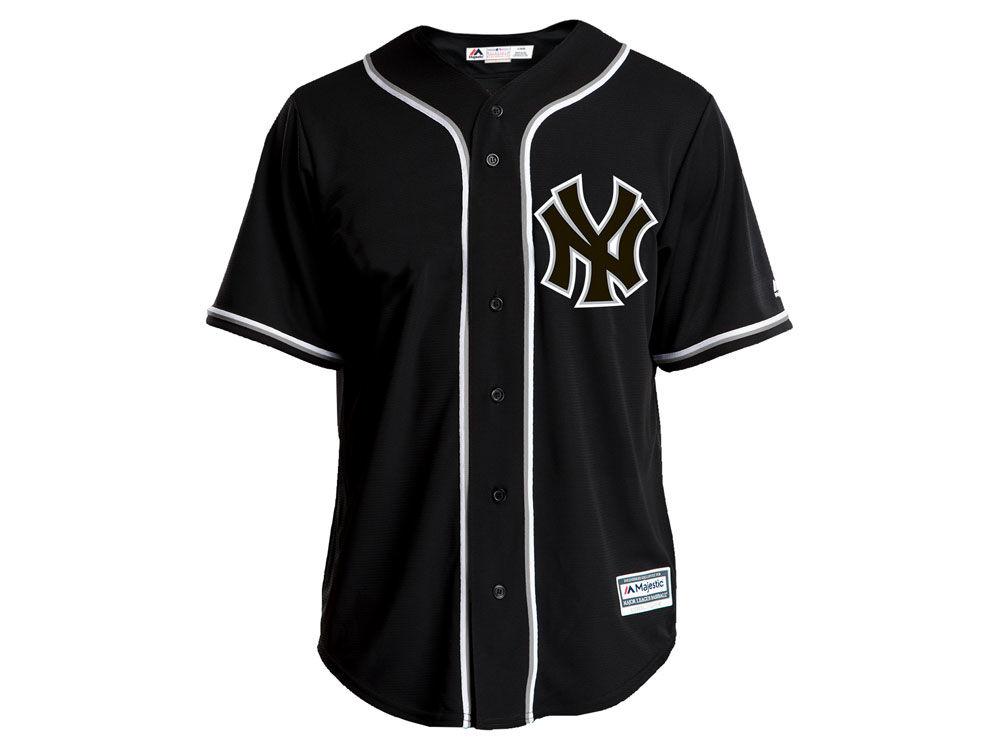 New York Yankees Majestic MLB Men s Pitch Black Jersey  666512dc0e5