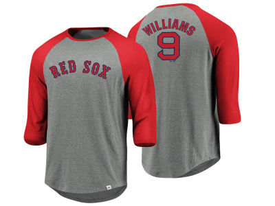 Boston Red Sox Ted Williams Majestic MLB Men's So Much Extra Player Raglan T-shirt