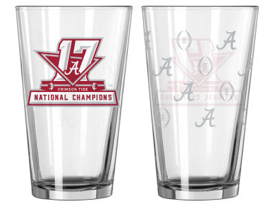 Alabama Crimson Tide Satin Etch Pint-Event