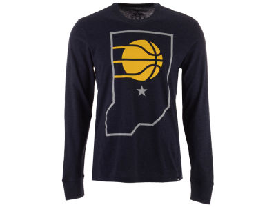Indiana Pacers '47 NBA Men's Secondary Logo Long Sleeve T-Shirt