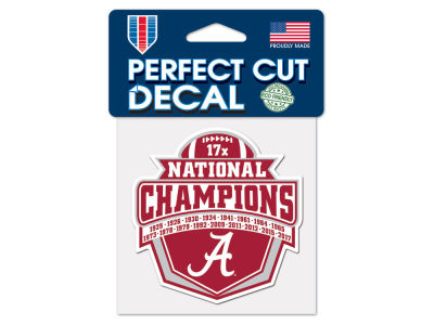 Alabama Crimson Tide Event 4x4 Die Cut Decal