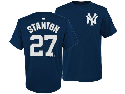 New York Yankees Giancarlo Stanton Majestic MLB Men's Official Player 3XL-4XL T-Shirt