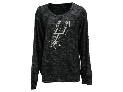 San Antonio Spurs 5th & Ocean NBA Women's Space Dye Crew Pullover