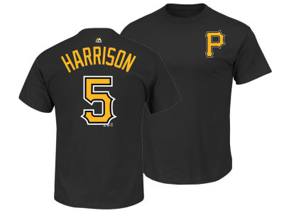 Pittsburgh Pirates Josh Harrison Majestic MLB Men's Official Player T-Shirt