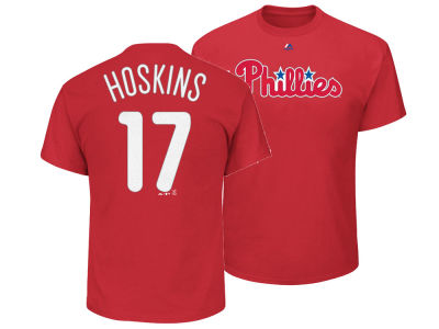 Philadelphia Phillies Rhys Hoskins Majestic MLB Men's Official Player T-Shirt