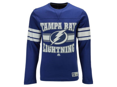 Tampa Bay Lightning Majestic NHL Men's Forecheck Long Sleeve T-Shirt