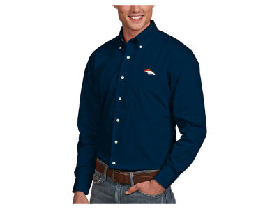 Denver Broncos Antigua NFL Men's Dynasty Button Up Shirt