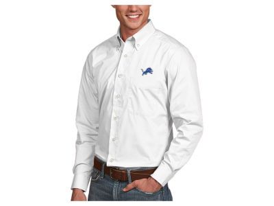 Detroit Lions Antigua NFL Men's Dynasty Button Up Shirt