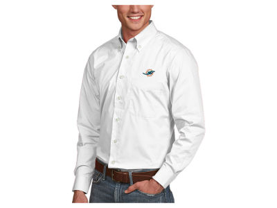 Miami Dolphins Antigua NFL Men's Dynasty Button Up Shirt