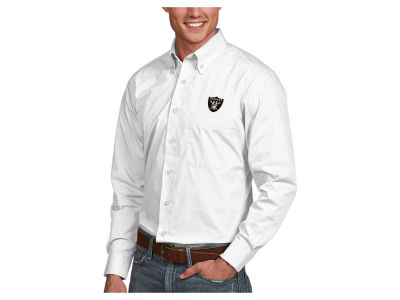 Oakland Raiders Antigua NFL Men's Dynasty Button Up Shirt