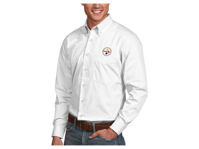 Pittsburgh Steelers Antigua NFL Men's Dynasty Button Up Shirt