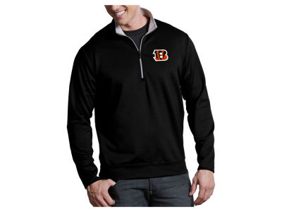 Cincinnati Bengals Antigua NFL Men's Leader 1/4 Zip Pullover