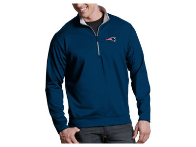 New England Patriots Antigua NFL Men's Leader 1/4 Zip Pullover