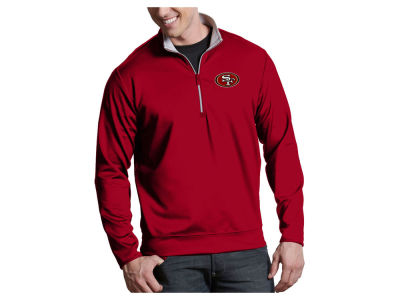 San Francisco 49ers Antigua NFL Men's Leader 1/4 Zip Pullover