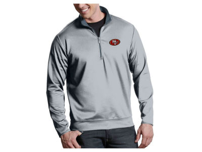 San Francisco 49ers Antigua NFL Men s Leader 1 4 Zip Pullover 9ba35d1e0