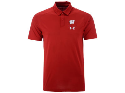 Wisconsin Badgers Under Armour NCAA Men's Pinnacle Polo