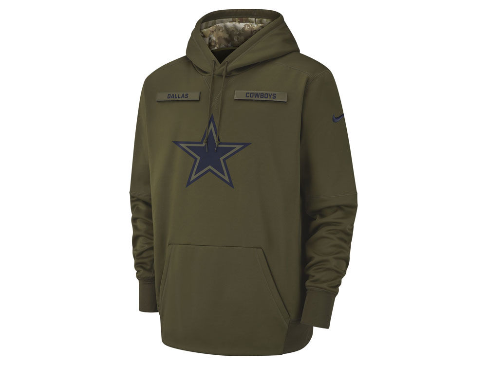Dallas Cowboys Nike 2018 NFL Youth Salute To Service Therma Hoodie ... 8463d2a9b