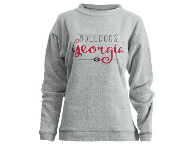 Georgia Bulldogs Pressbox NCAA Women's Comfy Terry Pullover