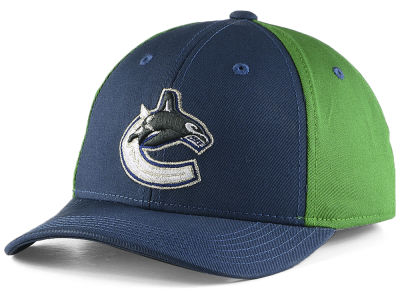 Vancouver Canucks NHL Youth Colorblock Structured Adjustable Cap
