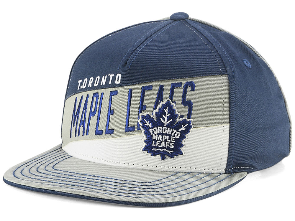 06d1ef38d89 Toronto Maple Leafs Outerstuff NHL Youth Stripe Structured Snapback Cap