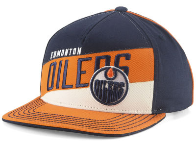 Edmonton Oilers Outerstuff NHL Youth Stripe Structured Snapback Cap