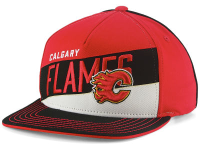 Calgary Flames Outerstuff NHL Youth Stripe Structured Snapback Cap