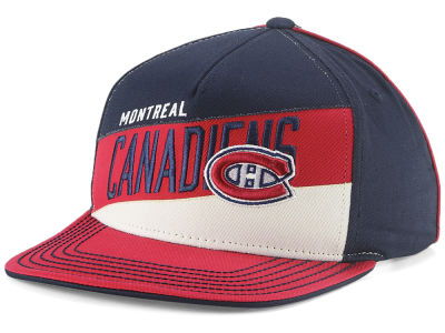 Montreal Canadiens Outerstuff NHL Youth Stripe Structured Snapback Cap