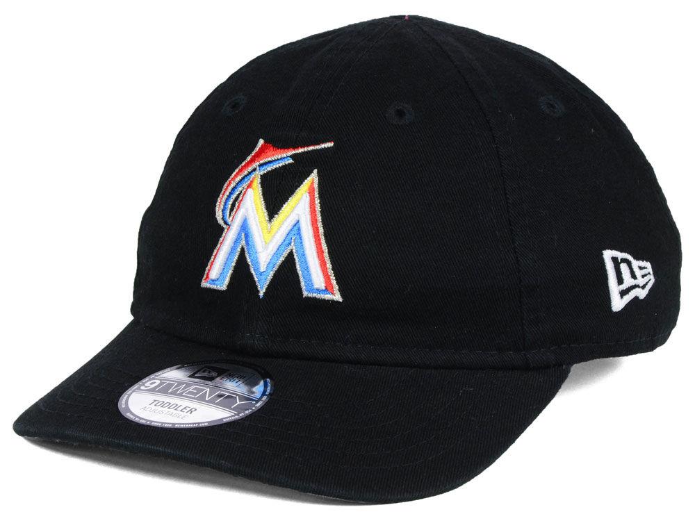 size 40 9cfdf da91d Miami Marlins New Era MLB Jr On-Field Replica 9TWENTY Cap   lids.com