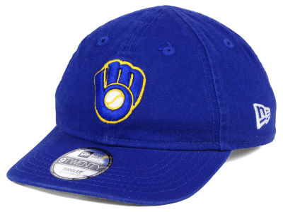 Milwaukee Brewers New Era MLB Jr On-Field Replica 9TWENTY Cap