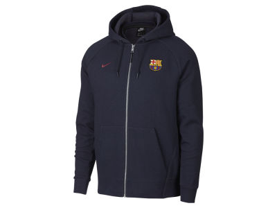 FC Barcelona Nike Men's Club Team Full Zip Optic Hoodie