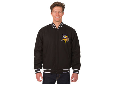 Minnesota Vikings JH Design NFL Men's Wool Embroidered Jacket