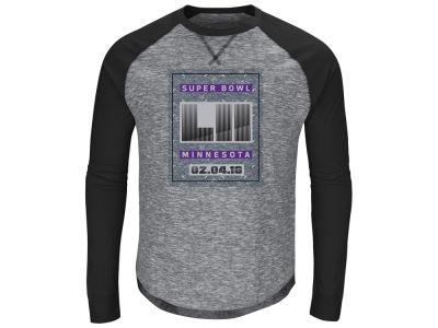 979269737 Super Bowl LII Majestic NFL Men s Corner Blitz Long Sleeve Raglan T-Shirt