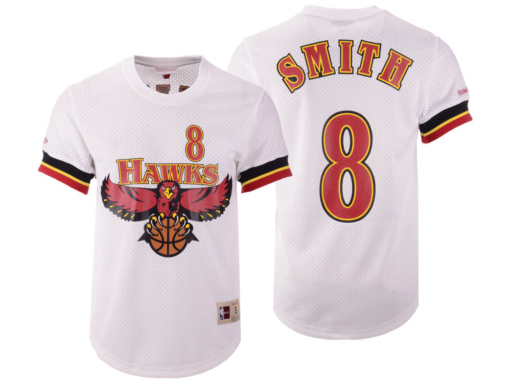 3aee1f97 ... sweden atlanta hawks steve smith mitchell ness nba mens name and number  mesh crewneck jersey 64600