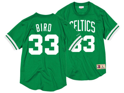 Boston Celtics Larry Bird Mitchell & Ness NBA Men's Name and Number Mesh Crewneck Jersey