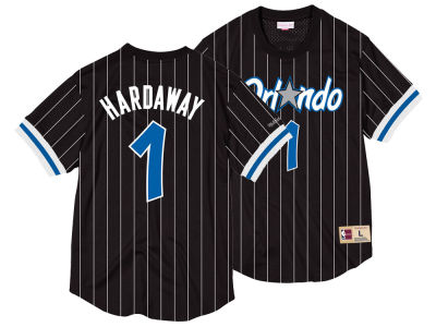 Orlando Magic Penny Hardaway Mitchell & Ness NBA Men's Name and Number Mesh Crewneck Jersey