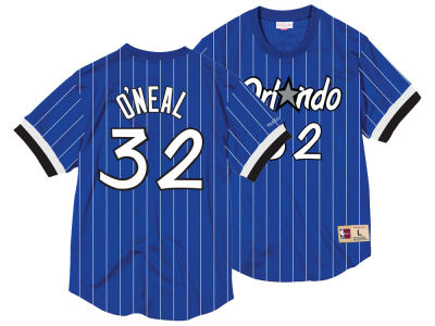 Orlando Magic Shaquille O'Neal Mitchell & Ness NBA Men's Name and Number Mesh Crewneck Jersey