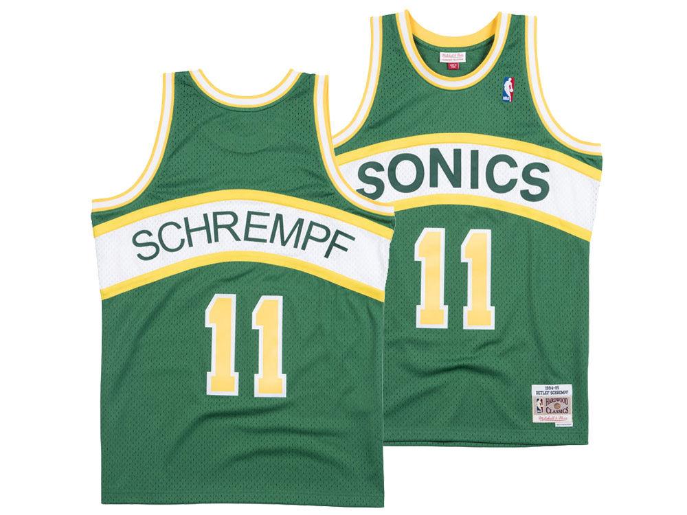 Seattle SuperSonics Detlef Schrempf Mitchell   Ness NBA Men s ... 273aa463ef