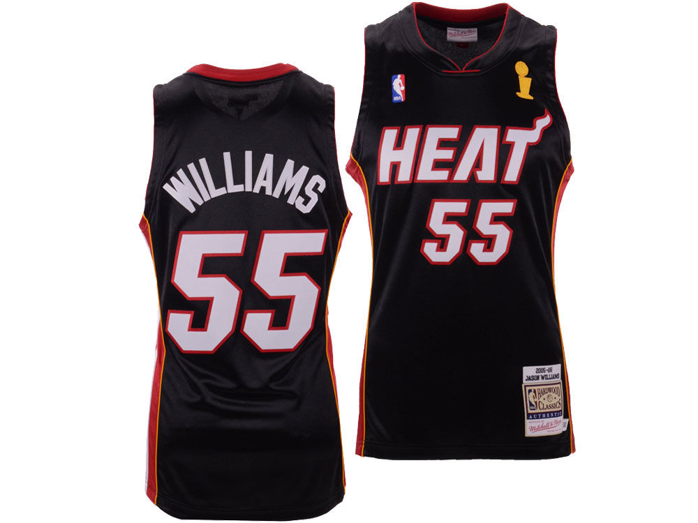e69f15858 Miami Heat Jason Williams Mitchell   Ness NBA Authentic Jersey ...