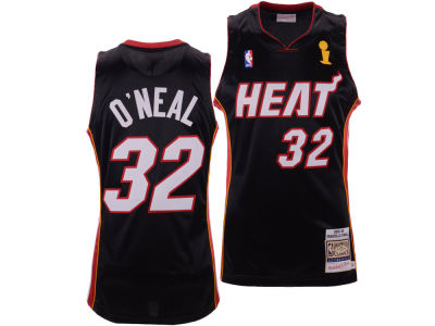 Miami Heat Shaquille O'Neal Mitchell & Ness NBA Authentic Jersey