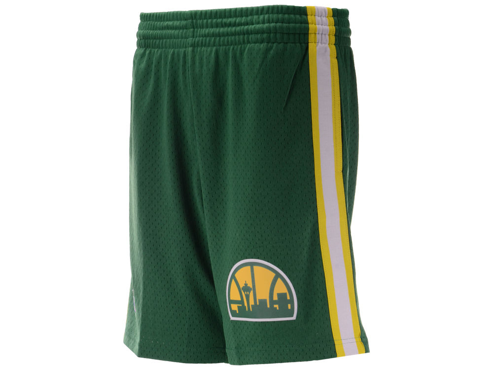 4233293f3d2 Seattle SuperSonics Mitchell   Ness NBA Men s Swingman Shorts