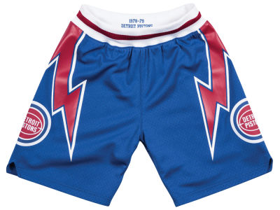 Detroit Pistons Mitchell & Ness NBA Men's Authentic NBA Shorts