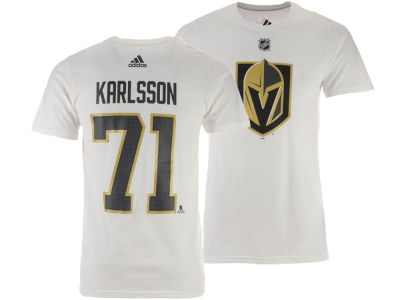 Vegas Golden Knights William Karlsson adidas NHL Men's Silver Player T-shirt