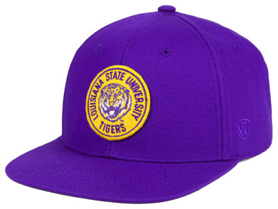 LSU Tigers Top of the World NCAA Timey Snapback Cap