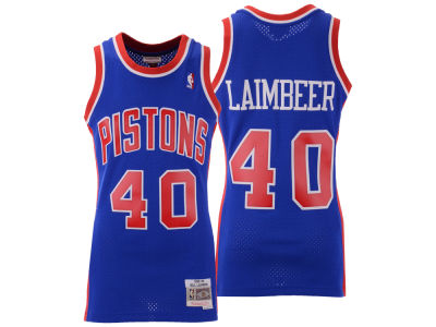 Detroit Pistons Bill Laimbeer Mitchell & Ness NBA Men's Hardwood Classic Swingman Jersey