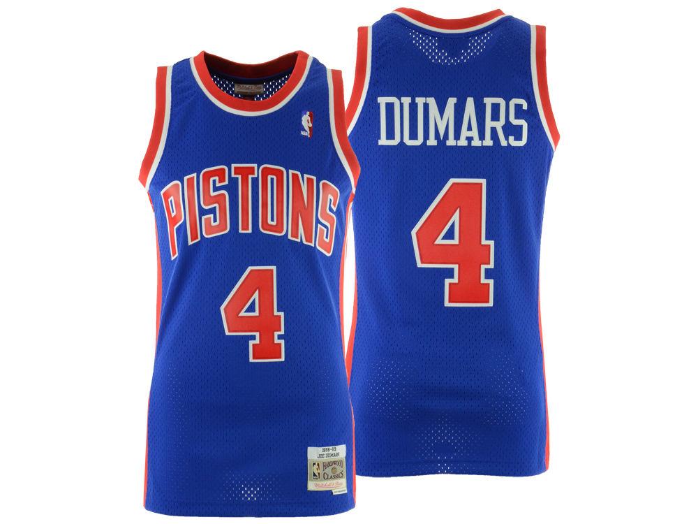 Detroit Pistons Joe Dumars Mitchell   Ness NBA Men s Hardwood Classic  Swingman Jersey  c72a3e905