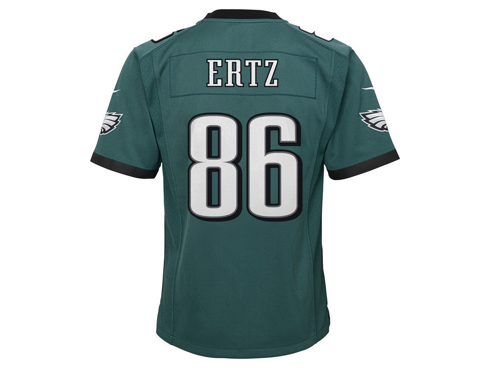 Philadelphia Eagles Zach Ertz Nike NFL Youth Super Bowl LII Patch Jersey  db41b696c