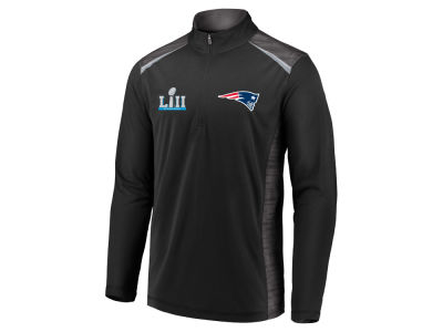 New England Patriots NFL Men's Super Bowl LII Bound Final Pass Quarter Zip Pullover