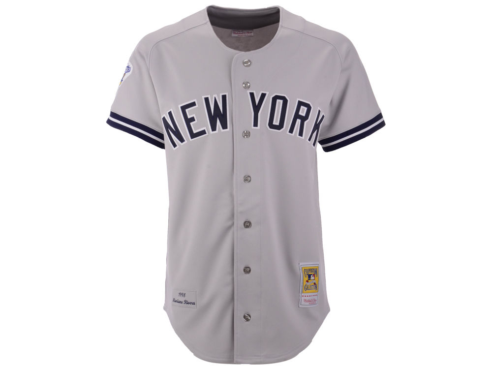 New York Yankees Mariano Rivera Mitchell   Ness MLB Men s Authentic Jersey.  Top. New ... 3dd4b9f6124