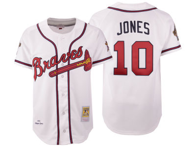 7e9eb8cd6 ... canada atlanta braves chipper jones mitchell ness mlb mens authentic  jersey 776e4 ca0b0 ...
